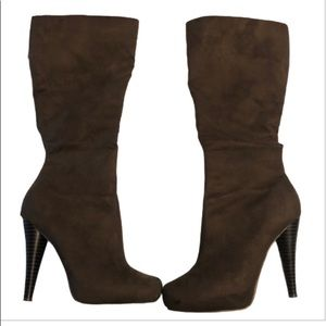 Micheal Antonio Brown Faux Suede Knee High Boot